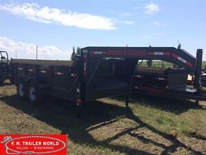 2016 Double A CLEARANCE 14' Excel GN Dump Trailer ELB147-14GN