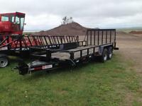 2016 18 ft equipment trailer