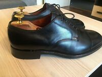 Luxurious Brooks Brothers Black Leather mens Brogues, formal shoes 43 / uk9, rrp £340