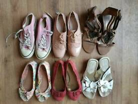 Womens Shoes x 6 Pairs *Converse~Clark~NEXT*