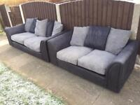 BLACK & GREY FABRIC SOFA -free delivery