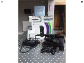 Xbox 360 with Kinect plus 14 games
