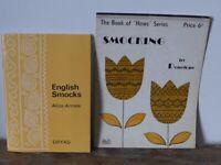 2 needlecraft instruction booklets: ENGLISH SMOCKING by Alice Armes. Plus a leaflet on SMOCKING