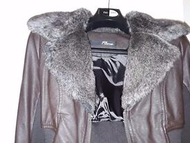Like new faux fur jacket