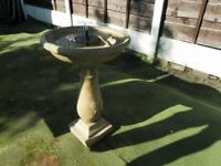 solar power water feature.