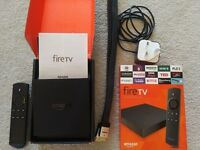 Amazon Fire TV 4K Ultra HD box digital media streaming player + HDMI cable. As new condition.