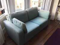 Turquoise 2 seater double sofa bed from Sofa Workshop