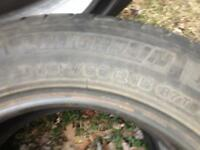 "2 sets of 15"" tires selling as a pair!!"