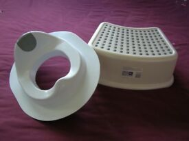 Kids toilet training seat and step stool