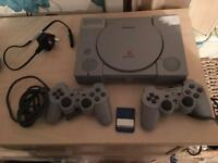 Playstation one with 6 games