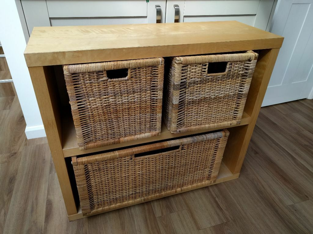 ikea lack storage units with branas baskets included