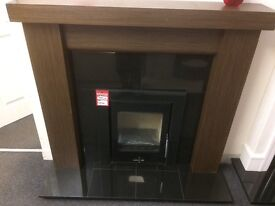 Log burner and fireplace never been used also suitable for electric fir or gas