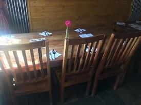 Six seater kitchen table & chairs