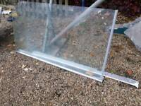 Glass Shower panel screen