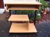 computer stand - desk-table, mobile PC desk, home office, computer-workstation-home, laptop desk