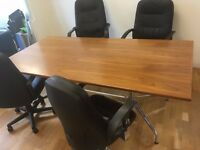 Office furniture for sale - desks, chairs, meeting room table, dividers, whiteboards, cabinets