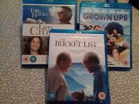Blu rays x three films