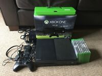 Xbox One 500gb with 8 Games and Charging Dock