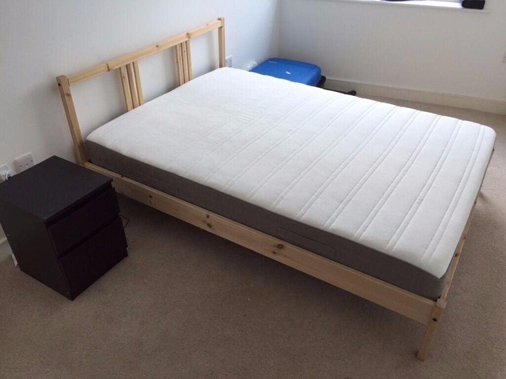 Ikea fjellse pine bed frame ikea hamarvik double for Ikea single futon