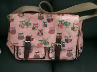 Beautiful pink bag with owl design