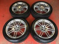 20'' GENUINE AUDI Q5 S LINE ALLOY WHEELS TYRES RS4 RS 5x112