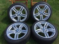 Genuine BMW OEM 351M 19 inch Wheels and Goodyear tyres (delivery mileage only!!)