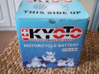 motorcycle battery ,NEW,boxed Kyoto gtx14 bs,pick up only from eston middlesbrough