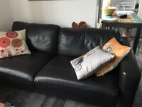 FREE: Black 3-seater used sofa