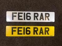 Ferrari Number Plate - FE16RAR