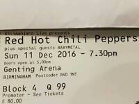 Red hot chili peppers concert tickets