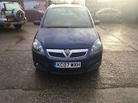Vauxall Zafira 1.9 diesel blue 7 seat one former owner full service history mot 19/6/17