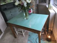 Oak Vintage Formica Top Kitchen Dining Table Retro desk