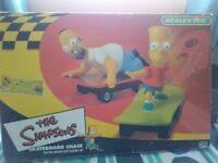 Scalextric Simpsons Skateboard Chase Racing Game Boxed Complete
