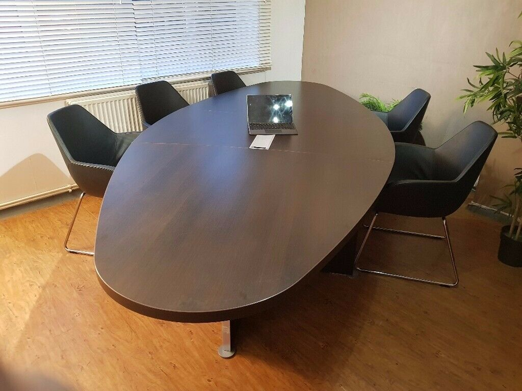 Enjoyable Reduced For A Week Executive Boardroom Meeting Conference Table With Cable Management Seats 8 0 In Orpington London Gumtree Home Interior And Landscaping Ponolsignezvosmurscom