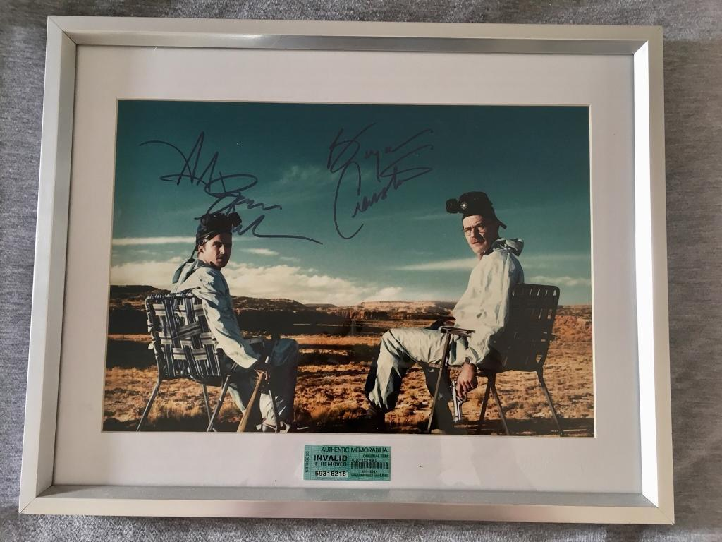 Breaking bad framed genuine signed photo with seal of authenticity breaking bad framed genuine signed photo with seal of authenticity jeuxipadfo Choice Image