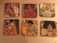 Gustav Klimt 'The Kiss' Coasters
