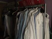 Profi Clothes stand white wheels