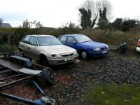 Vauxhall astra and cavalier breaking