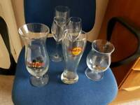 Beer glasses and drink glasses Hard Rock cafe. Excellent condition