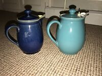Denby stoneware x2 1 pint and 1half pint jugs good condition £20 for both Ono