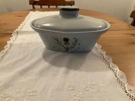 Buchan Thistle Pottery casserole dish