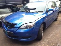 2005 Mazda 3 1.6d TS2 5dr blue manual BREAKING FOR SPARES