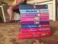 Collection of Jacqueline Wilson books.