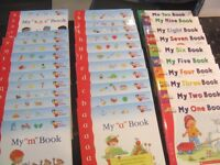 Kids books (alphabet and number books) as good as new.