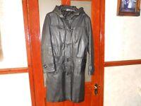 Genuine leather coat full length
