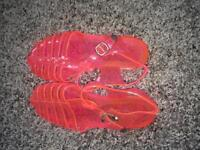 Jelly sandals size 4