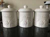 KITCHEN CANISTERS (DUNELM)