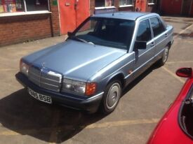 Clean and original 1989 Mercedes 190 2.0 Automatic long mot February 2019