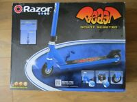 new - razor beast sport scooter blue stunt