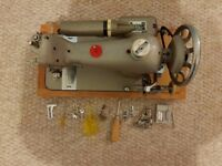 Retro Electric Sewing Machine - Harris 9H with accessories